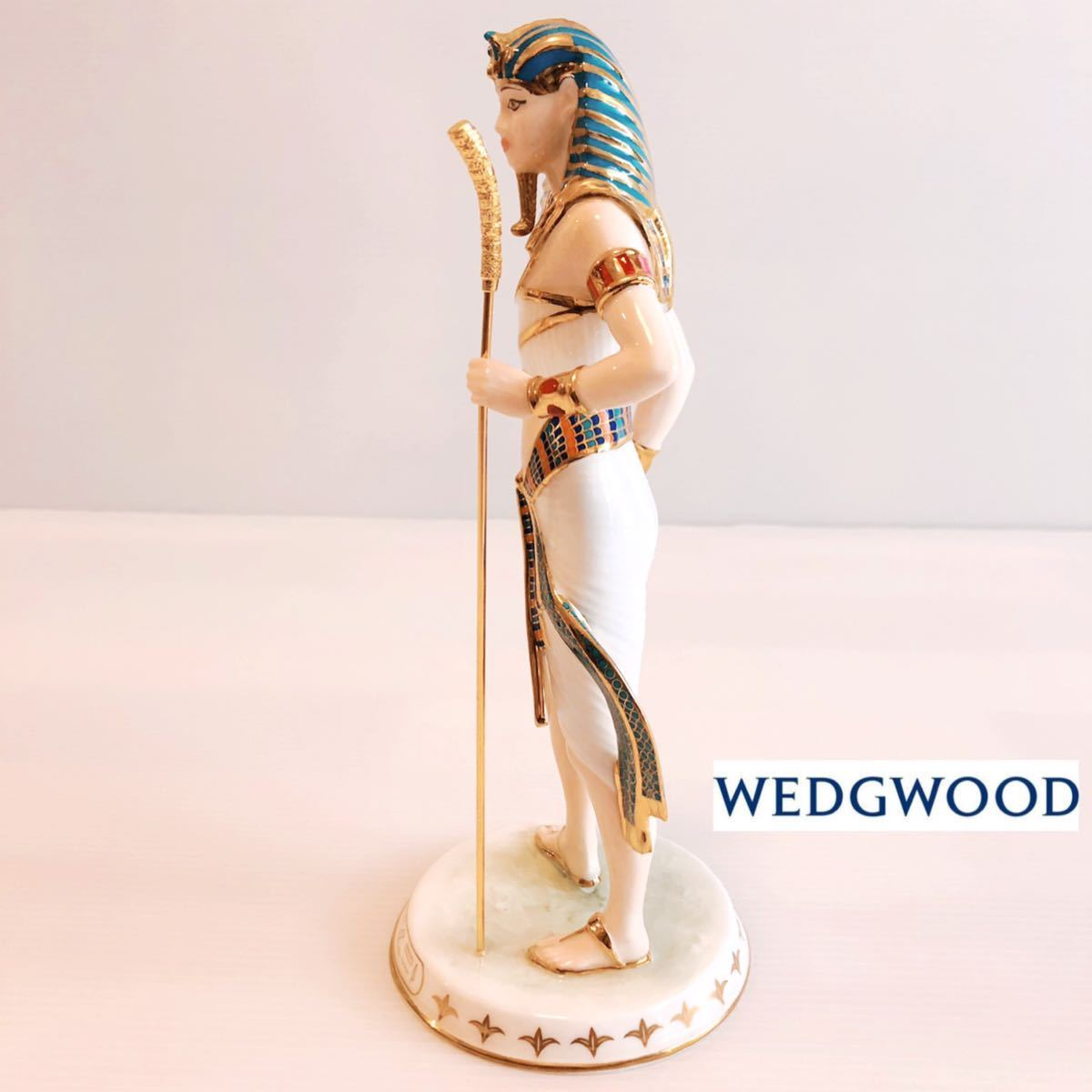 【貴重】WEDGWOOD/ツタンカーメン/The Boy King/Tutankhamun/ウェッジウッド/激レア/英国製/イギリス/置物 /限定品/陶器人形/フィギュア_画像3