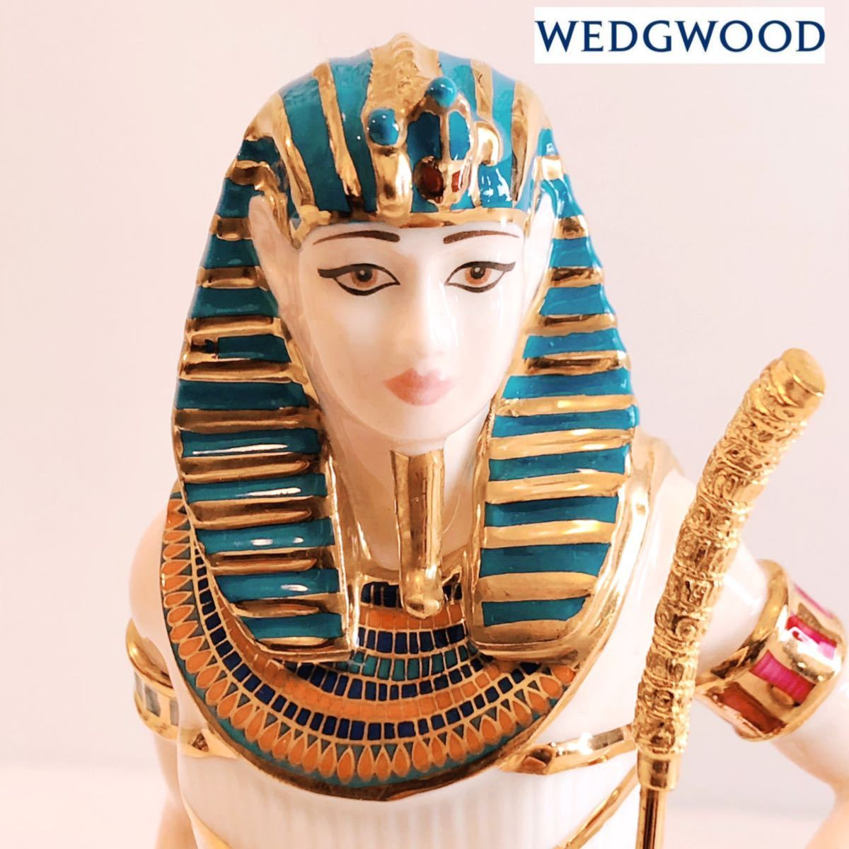 【貴重】WEDGWOOD/ツタンカーメン/The Boy King/Tutankhamun/ウェッジウッド/激レア/英国製/イギリス/置物 /限定品/陶器人形/フィギュア_画像1