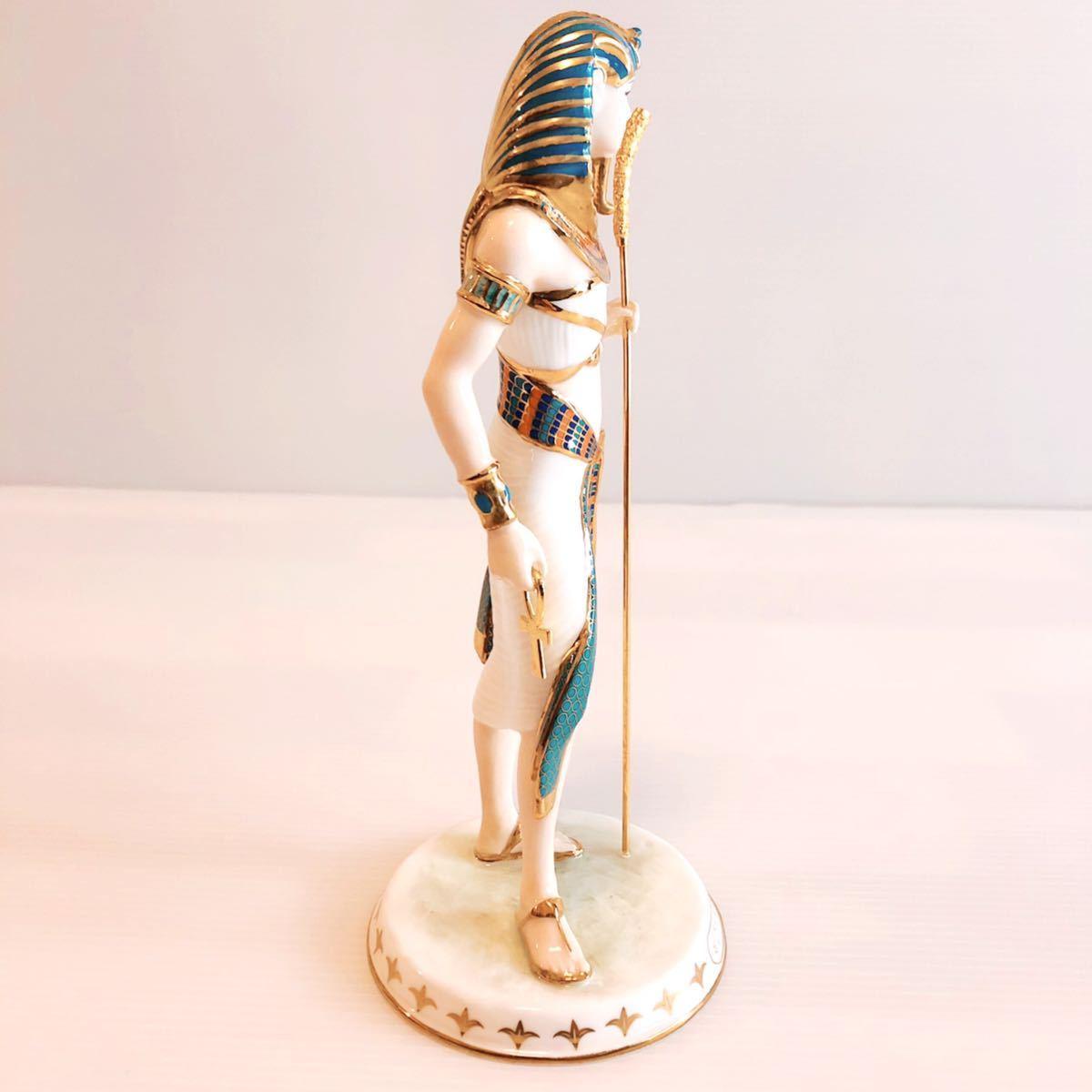 【貴重】WEDGWOOD/ツタンカーメン/The Boy King/Tutankhamun/ウェッジウッド/激レア/英国製/イギリス/置物 /限定品/陶器人形/フィギュア_画像5