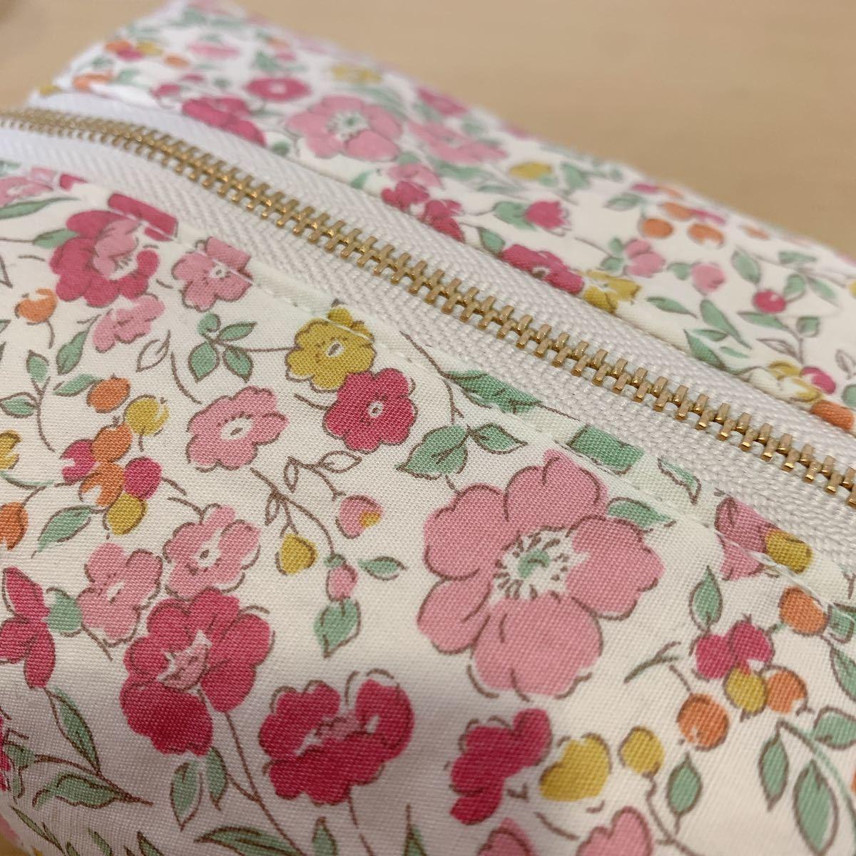 ハンドメイド 化粧ポーチ レディース ファッション 小物 可愛い 雑貨 花柄 小