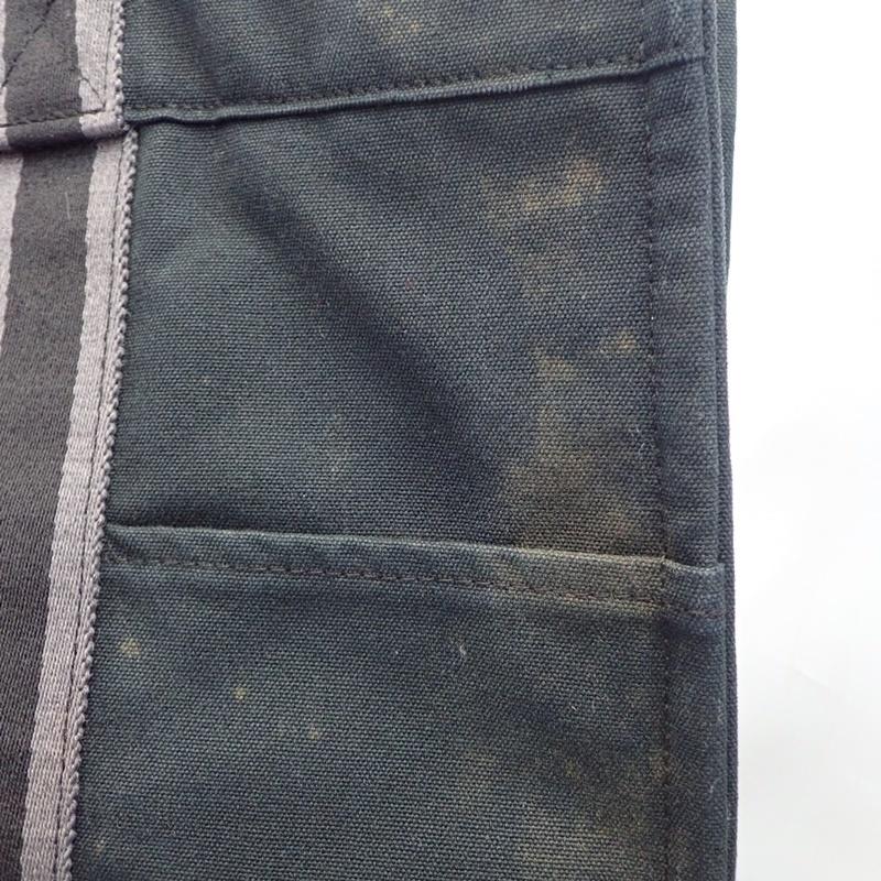 エルメス フールトゥ MM ブラック キャンバス トートバッグ ハンドバッグ 黒 HERMES_画像4
