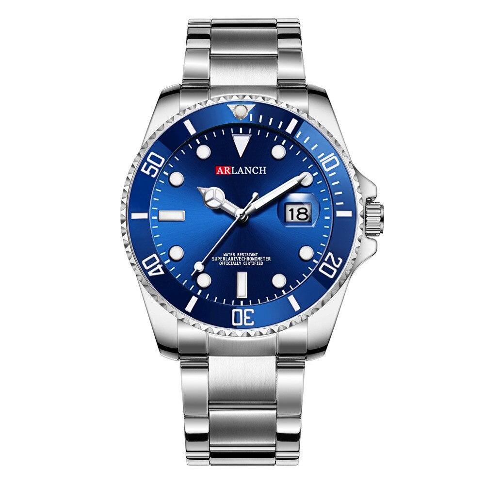ホットarlanch男性の発光大型ダイヤルメンズ腕時計クォーツ腕時計男性グリーン男性時計スポーツウォッチ男性レロジオmasculino_画像6