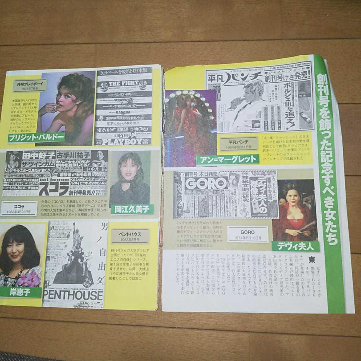 【雑誌切り抜き】 『GORO』『スコラ』『月刊プレイボーイ』『平凡パンチ』あの女優ヌードを憶えていますか 8P_画像2
