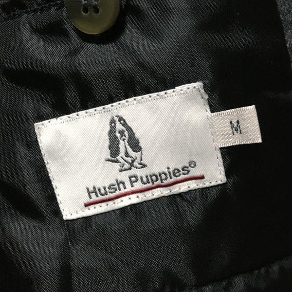 #HUSH PUPPIES|ハッシュパピー ウールライクポリエステルストレッチ中綿ジャケット/コート グレーカラー sizeM