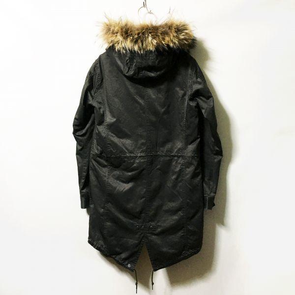 #MEN'S BIGI|メンズビギ キルティングライナー付きスリムフィットモッズコート ダークカーキ/ダークブラウン size2(S程度)