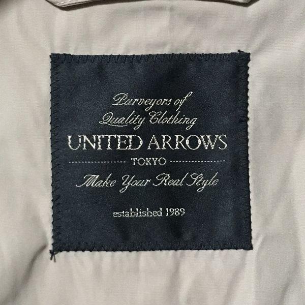 #UNITED ARROWS tokyo ユナイテッドアローズ ナイロンステンカラーコート/シングルコート アスペジ系 ベージュ/アイボリー sizeXS(S程度)