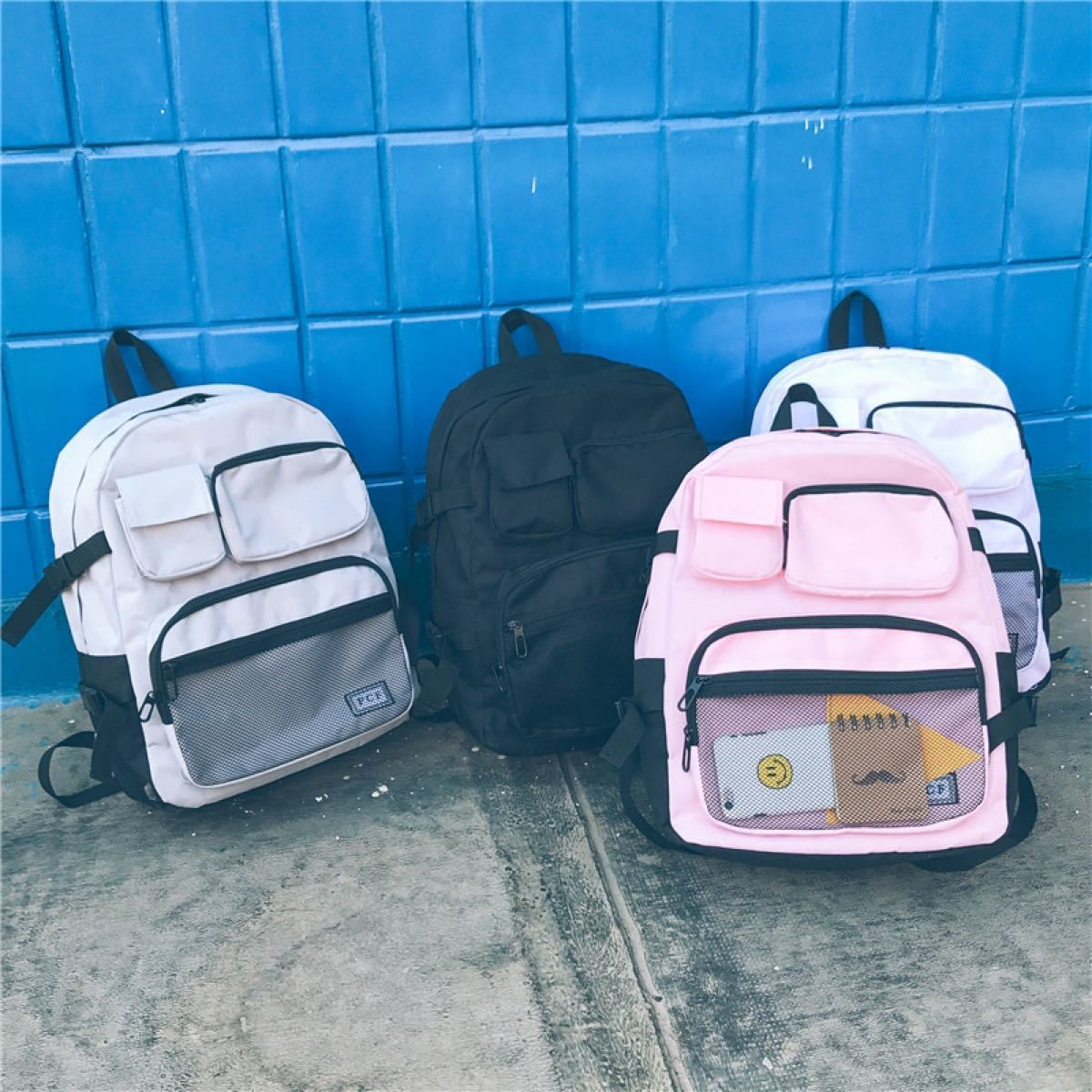 リュック  バックパック リュックサック 鞄 学生 カバン 多機能 黒 グレー