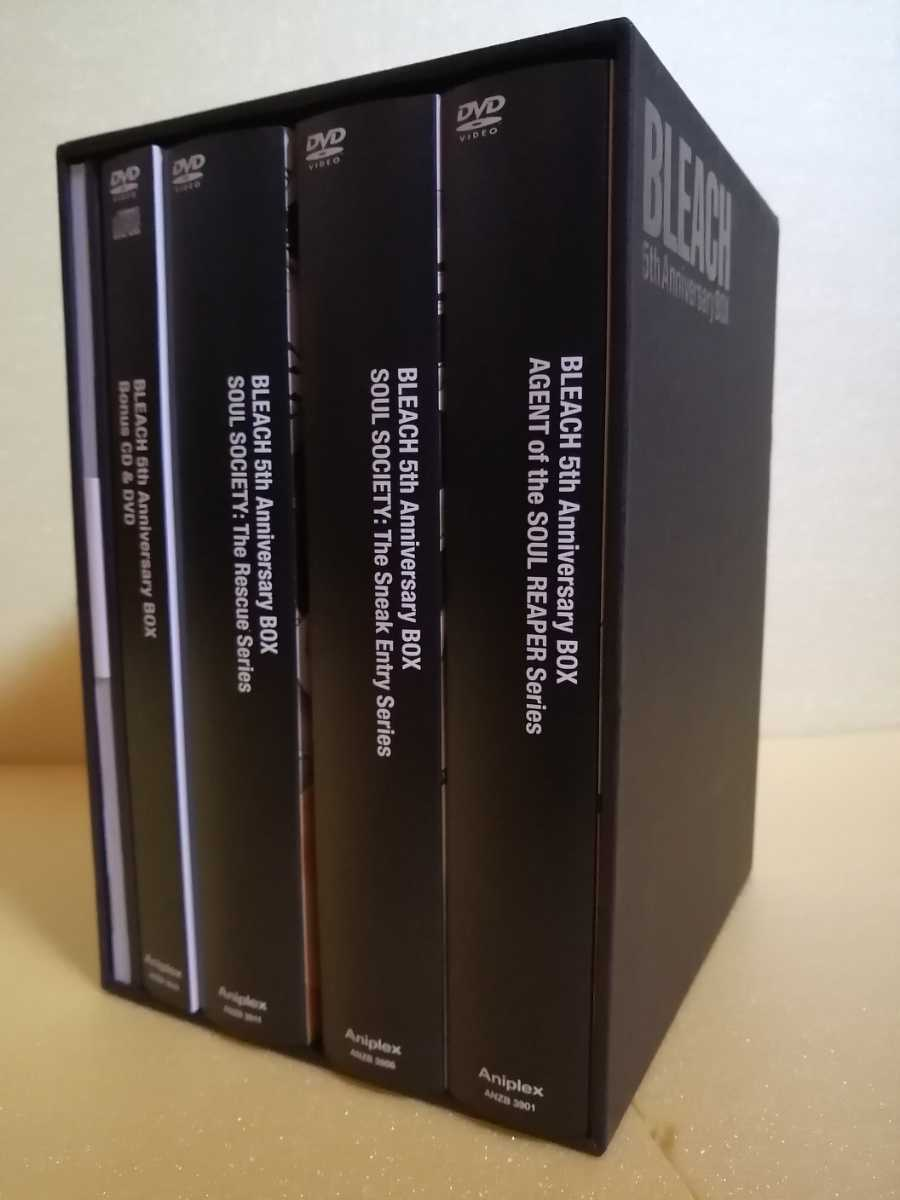 【完全生産限定盤】TV Animation BLEACH 5th Anniversary BOX 「死神代行篇」「尸魂界・潜入篇」「尸魂界・救出篇」 黒崎一護 朽木ルキア