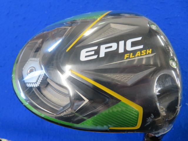 【新品・訳あり】キャロウェイ 2019 EPIC-FLASH エピックフラッシュ ドライバー(9.0°)【S】ディアマナZF60<HC&レンチ付き>