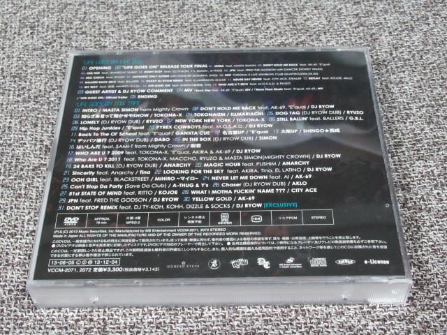 ★送料無料★ 2枚組 Life Goes On LIVE DVD MIX TAPE DJ RYOW リョウ KOHH ZEEBRA TOKONA-X 般若 MIX CD HIP HOP RAP ヒップホップ ラップ