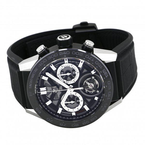 タグ・ホイヤー TAG HEUER カレラ キャリバー ホイヤー02T トゥールビヨン CAR5A8Y.FC6377 グレー文字盤 中古 腕時計 メンズ_画像2