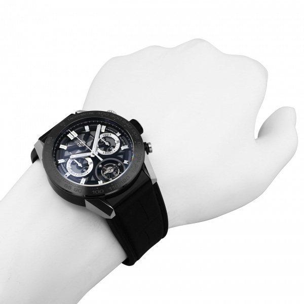タグ・ホイヤー TAG HEUER カレラ キャリバー ホイヤー02T トゥールビヨン CAR5A8Y.FC6377 グレー文字盤 中古 腕時計 メンズ_画像7
