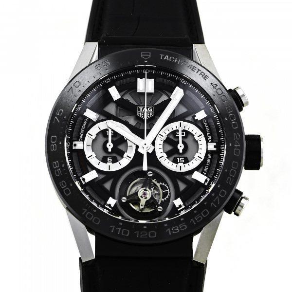 タグ・ホイヤー TAG HEUER カレラ キャリバー ホイヤー02T トゥールビヨン CAR5A8Y.FC6377 グレー文字盤 中古 腕時計 メンズ_画像1