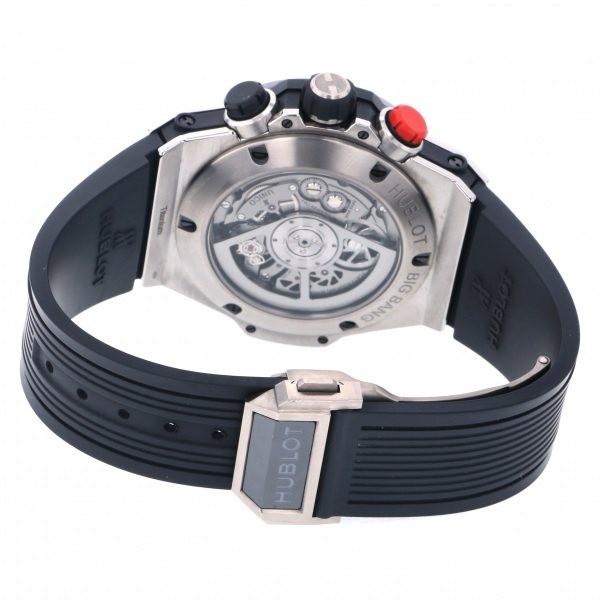 ウブロ HUBLOT ビッグバン ウニコ レトログラード クロノグラフ 413.NM.1127.RX ブラック文字盤 中古 腕時計 メンズ_画像5