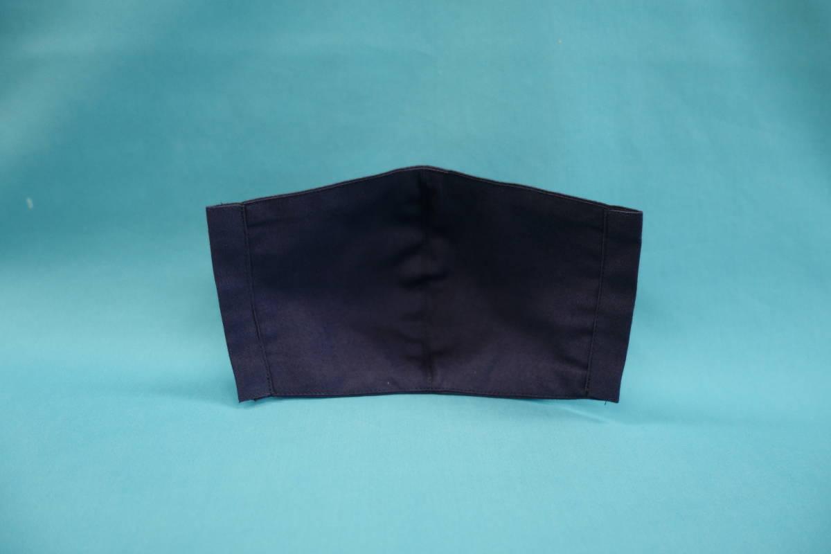◆紺 ◆マスク用ゴム黒 ◆シンプル ◆綿100% ◆表裏 紺 ◆仕事 ◆手作り ◆マスクカバー ◆インナー ◆職場 _画像3