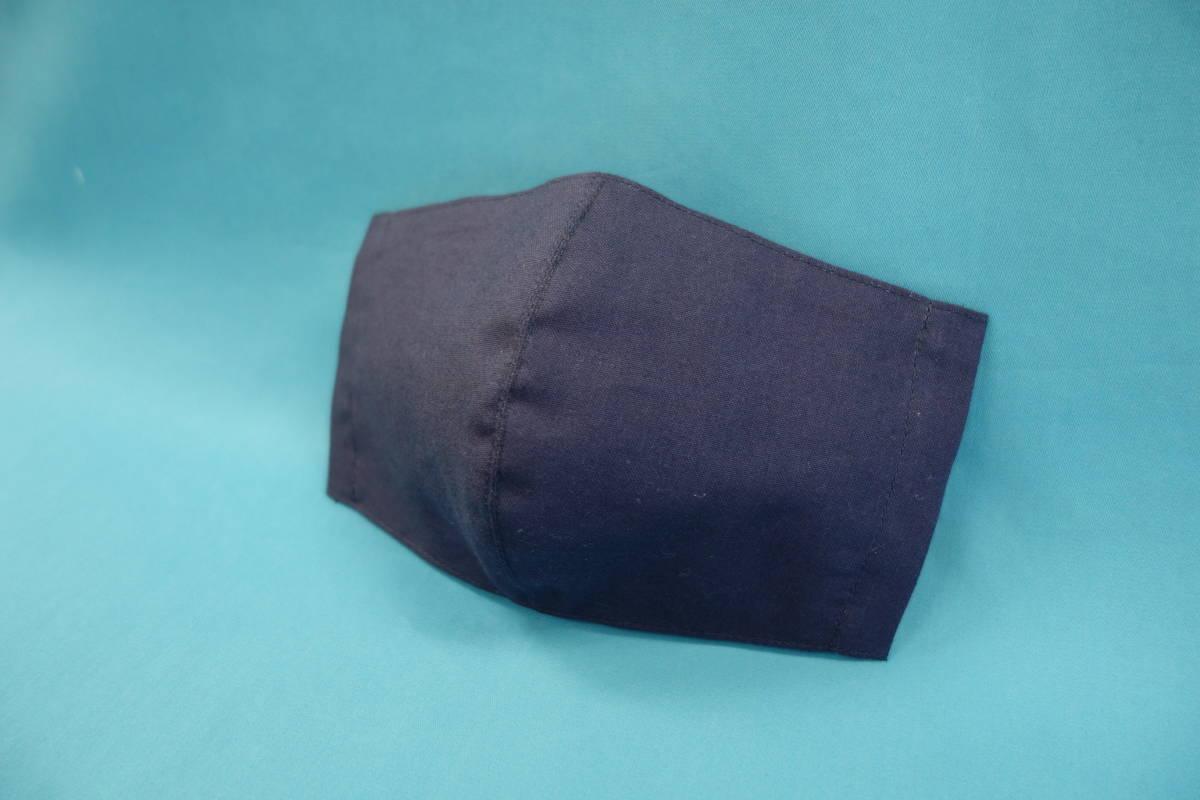 ◆紺 ◆マスク用ゴム黒 ◆シンプル ◆綿100% ◆表裏 紺 ◆仕事 ◆手作り ◆マスクカバー ◆インナー ◆職場 _画像2