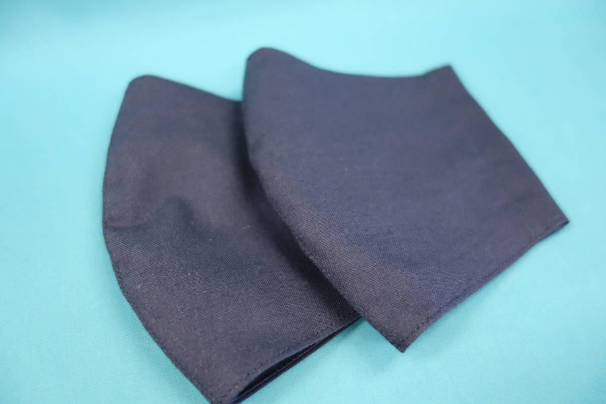 ◆紺 ◆マスク用ゴム黒 ◆シンプル ◆綿100% ◆表裏 紺 ◆仕事 ◆手作り ◆マスクカバー ◆インナー ◆職場 _画像5