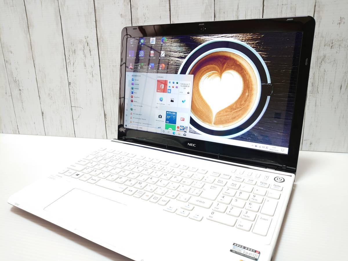【最強i7☆メモリ16GB☆爆速新品SSD512GB】Windows10◇NEC LS150/M◇Core i7-3.30GHz(第3世代♪)◇Office/WEBカメラ/USB3.0/HDMI/筆ぐるめ