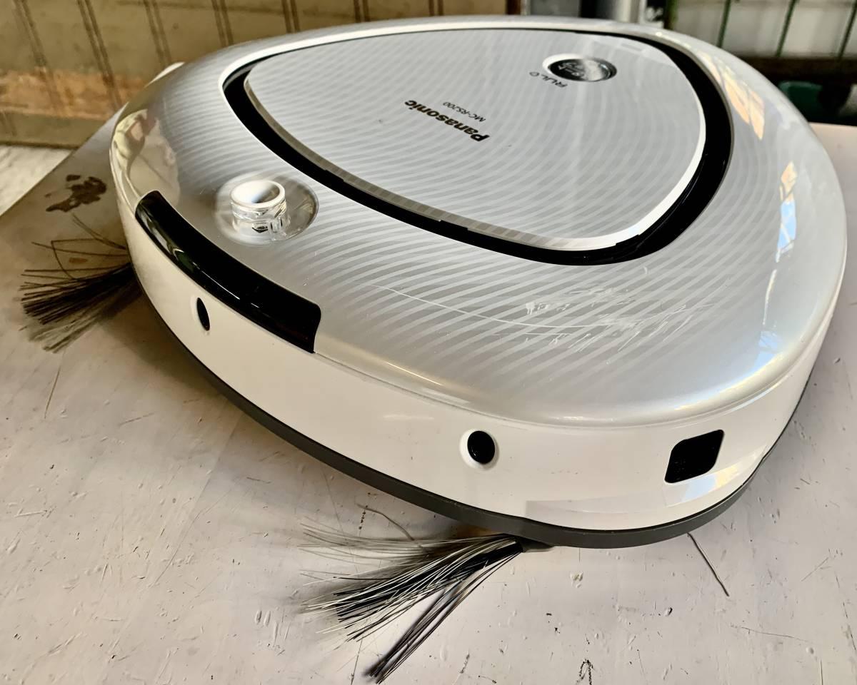 動作品 16年製 Panasonic パナソニック 最大稼動面積 約30畳 ロボット掃除機 RULO ルーロ MC-RS200-W_画像3