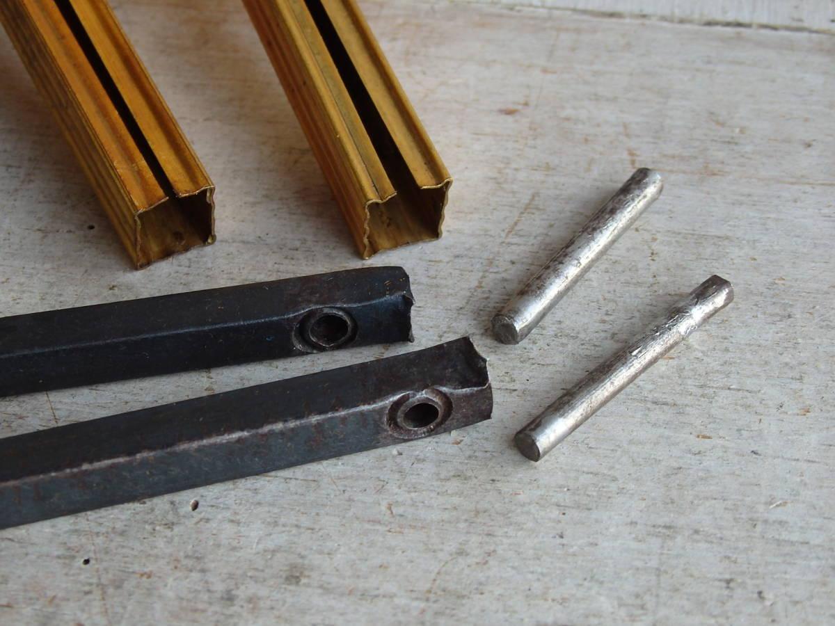 フランスアンティーク カーテンフックのパーツ 2個セット 家具パーツ ブロンズ 青銅 蚤の市 ブロカント ペア _画像5