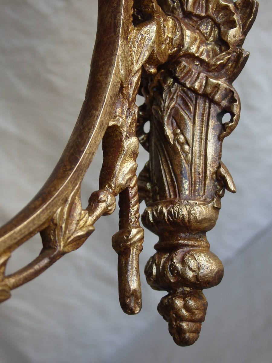 フランスアンティーク カーテンフック カーテンホルダー パーツ ブロンズ 青銅 蚤の市 ブロカント レリーフ ナポレオンⅢ_画像10