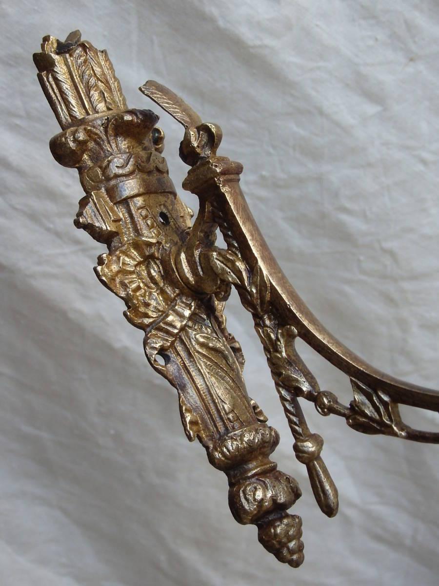 フランスアンティーク カーテンフック カーテンホルダー パーツ ブロンズ 青銅 蚤の市 ブロカント レリーフ ナポレオンⅢ_画像2