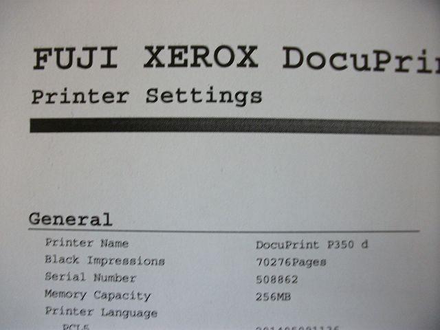 ●【ジャンク】中古レーザープリンタ【FUJI XEROX DocuPrint P350d】+残量不明トナー/ドラム●_画像6
