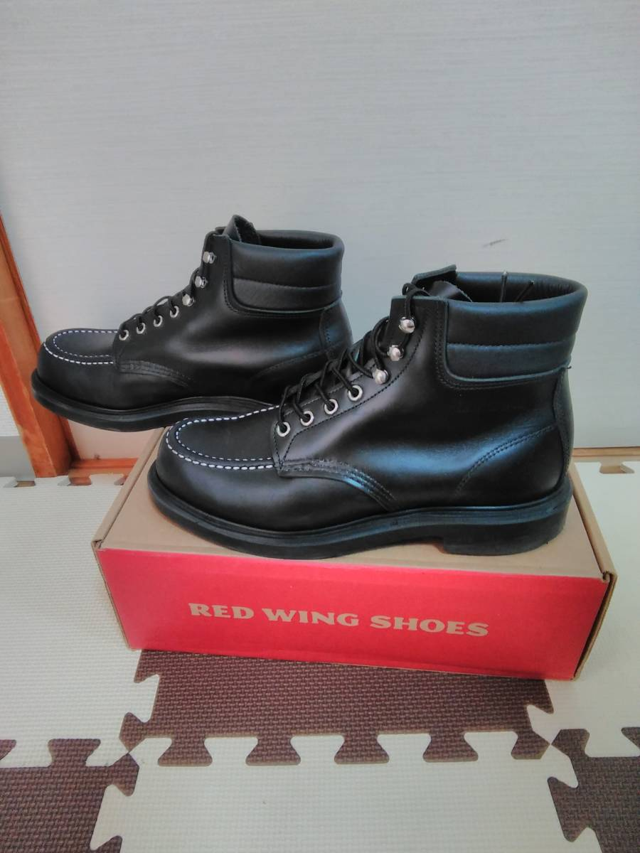 RED WING レッドウィング 8133 スーパーソール  ブラック モックトゥ ワークブーツ US9.5 27.5cm_画像3