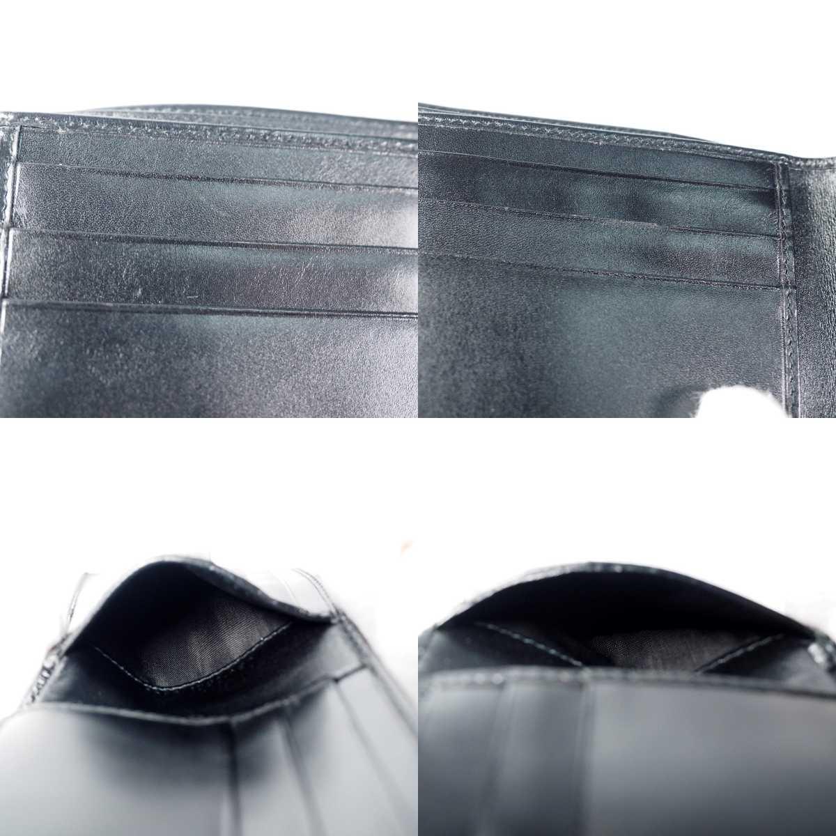 【未使用 送料無料】グッチ GG キャンバス 二つ折り財布 ブラック GUCCI 小銭入れ  財布 526_画像7