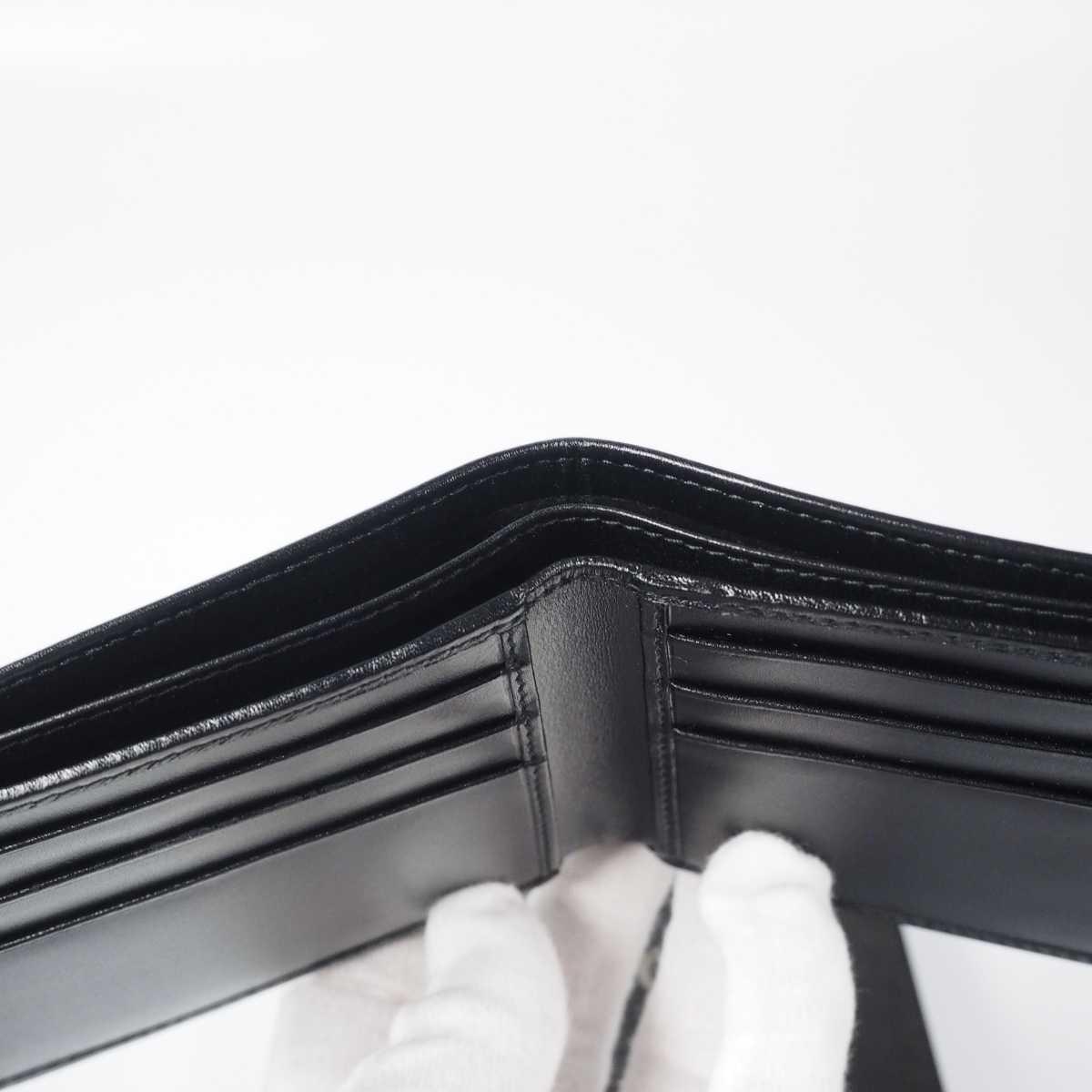 【未使用 送料無料】グッチ GG キャンバス 二つ折り財布 ブラック GUCCI 小銭入れ  財布 526_画像6