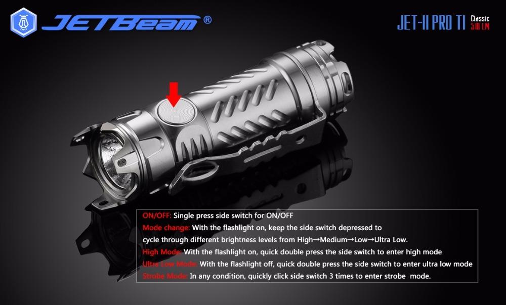 edc ジェットビーム社 JET Beam JET-2 PRO Ti 限定モデル 510ルーメン 軽量コンパクト、ハイパワー 普段使いに 災害時に レスキューに!!_画像8