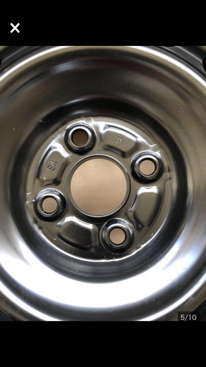 J15x6J DOT 620/6S4 8 T スチールホイール 鉄 ブラック (4本セット)_画像3