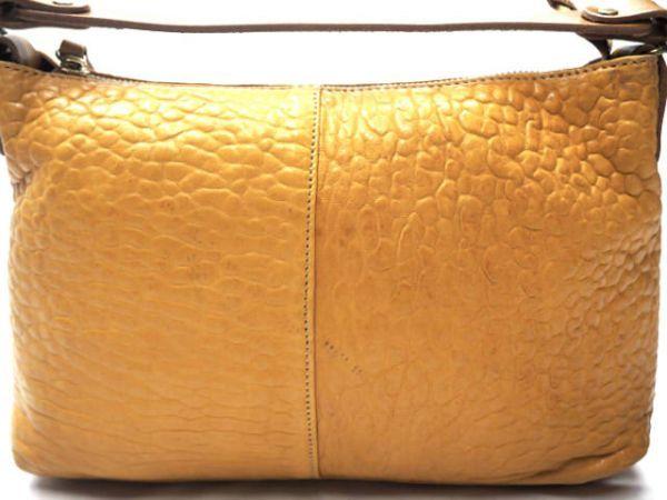 即決★日本製 N.B.★オールレザーショルダーバッグ 本革 本皮 イエロー 黄色 2way ハンドバッグ トートバッグ かばん 鞄 B600 3g._画像2