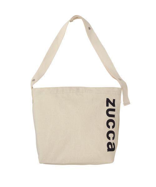 ズッカ今期 ZUCCa LOGOエコバッグ トートバッグ エコバッグ ホワイト ショルダーバッグ 2way