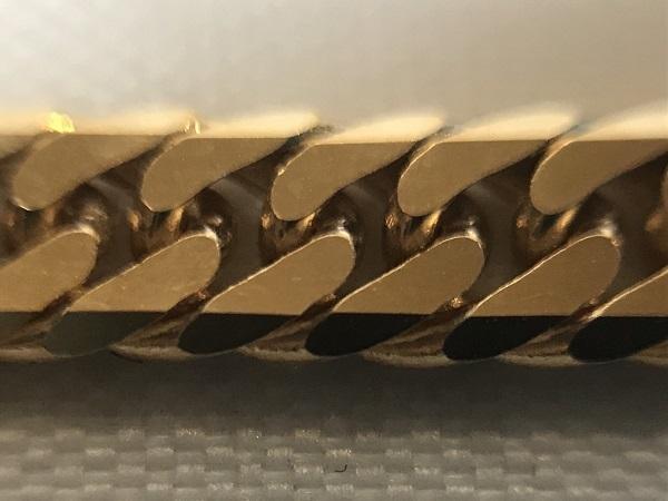 K18 YG 50g 50.3g W喜平 6面 50cm ネックレス 造幣局検定マーク入_画像3