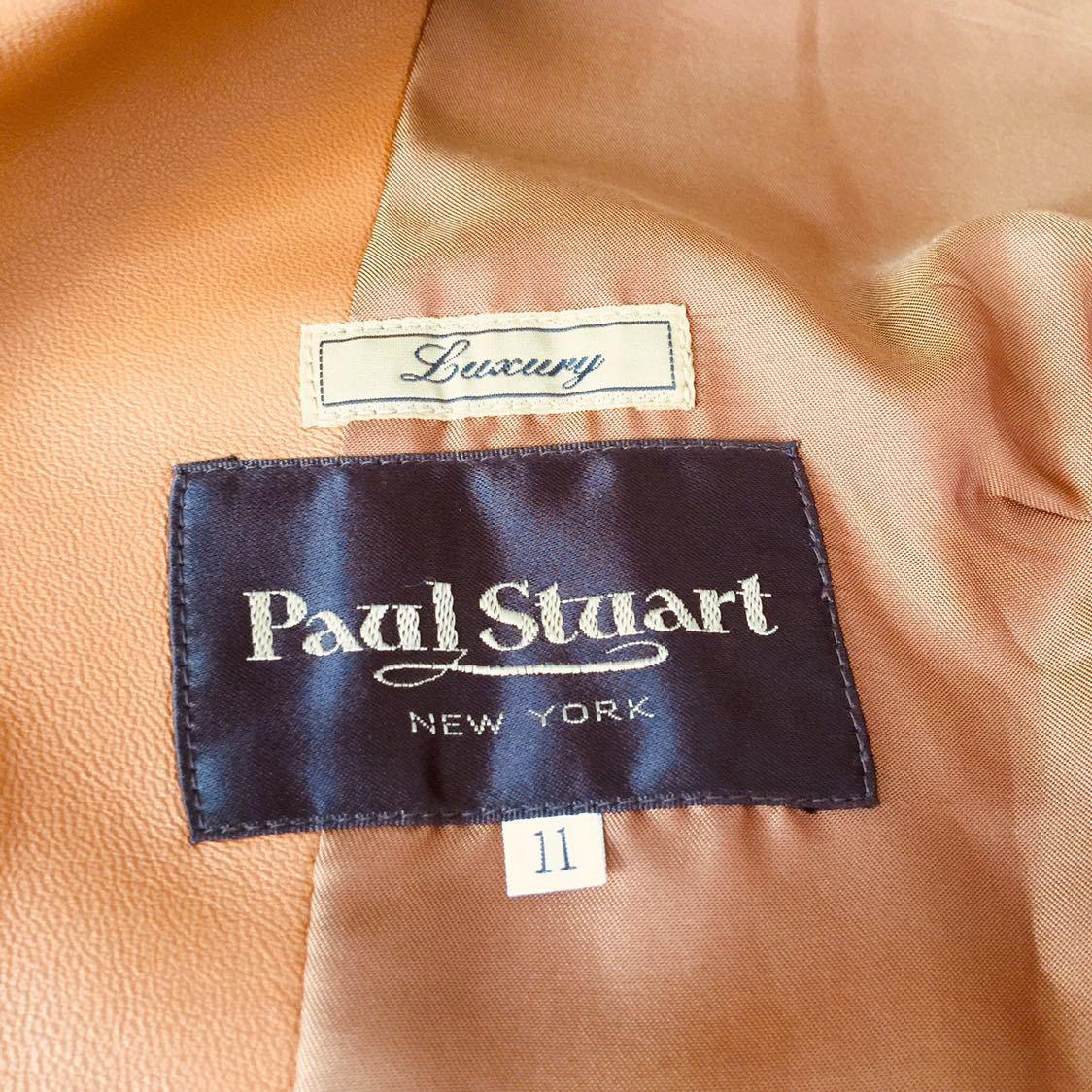 Paul Stuart ポールスチュアート レザージャケット 11AR(羊革)_画像2