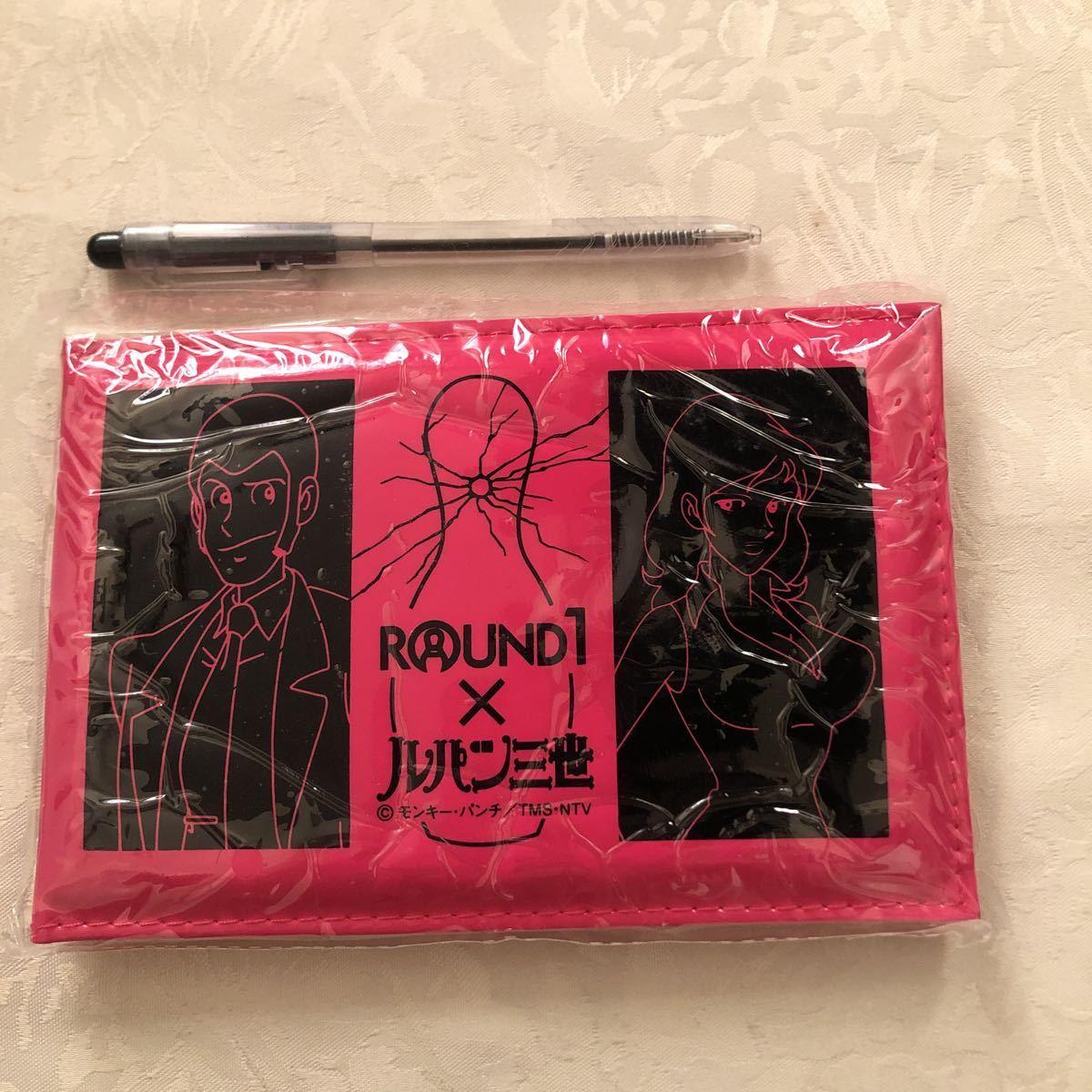 【新品】ROUND1×ルパン三世 モンキー・パンチ/ミラー付きフォトケース黒ピンク/2個セット_大きさ比較して下さい。