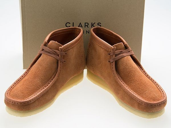 新品/CLARKS ORIGINALS/クラークス オリジナルズ/WALLABEE BOOT/ワラビー ブーツ/TAN HAIRY SUEDE/タン ヘアリー スエード/26154818/27.0cm_画像1