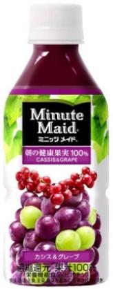 ミニッツメイド カシス グレープ 350ml 24本 (24本×1ケース) フルーツジュース 果汁100%ジュース ペットボトル PET【送料無料】_画像1