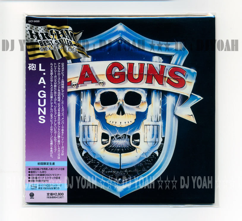 SHM-CD 国内盤 紙ジャケ 復刻シール ☆ L.A.ガンズ / 砲 (UICY-94509) 日本盤ボートラ L.A. GUNS , L.A.GUNS , TRACII GUNS, PHILIP LEWIS