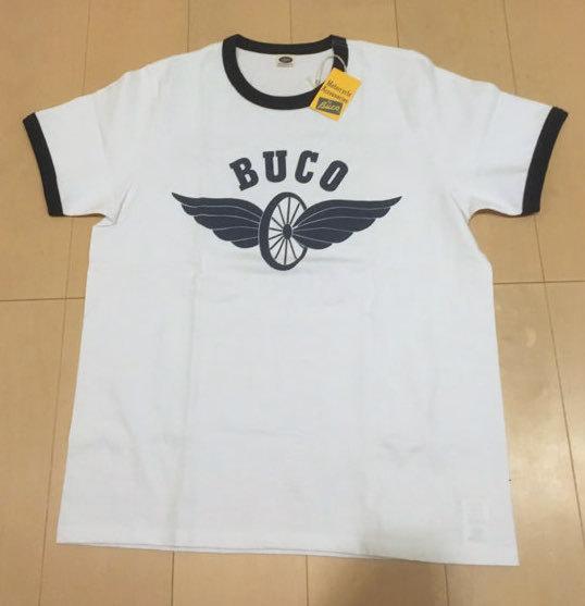 リアルマッコイズ/BUCO/リンガー半袖Tシャツ/フライングホイール/REAL McCOY'S/美品_画像1