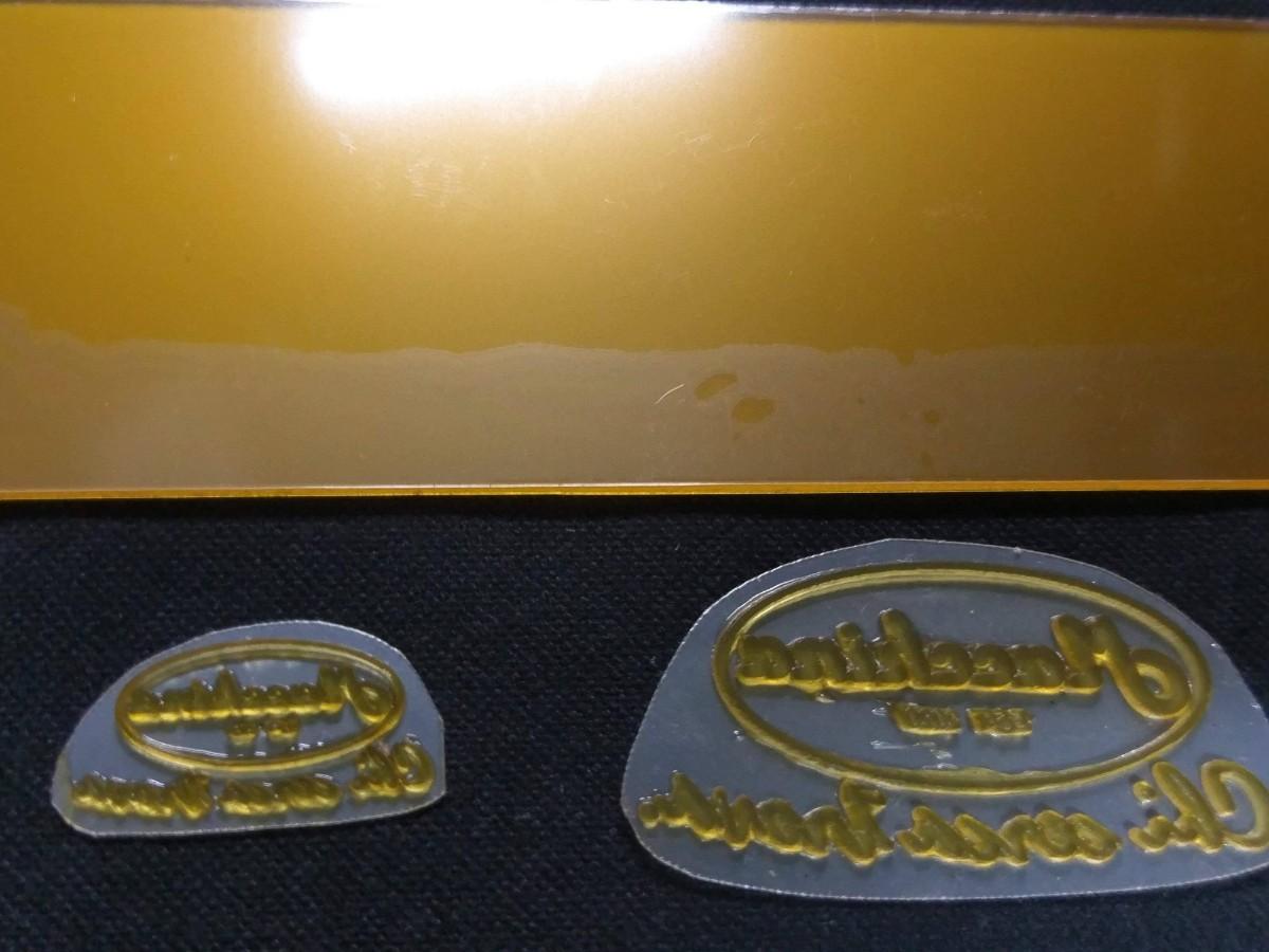レザークラフト用 オリジナル刻印が作れる!  紫外線硬化樹脂版 レタープレス