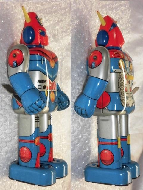 即決 放送当時物 ポピー 超電磁ロボ コンバトラーV ゼンマイ 歩行 ブリキ ロボット ポピー ポピニカ 超合金_画像4