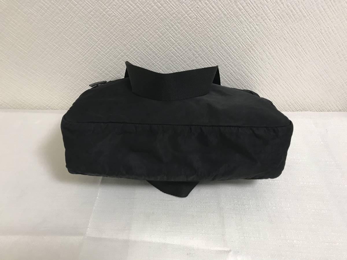 本物プラダPRADAナイロンデカビッグボストントートバッグビジネスボストンバック旅行トラベル黒ブラックメンズレディース