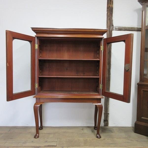 イギリス アンティーク 家具 ブックケース 本棚 飾り棚 収納 猫脚 木製 マホガニー 英国 BOOKCASE 6591b_画像3