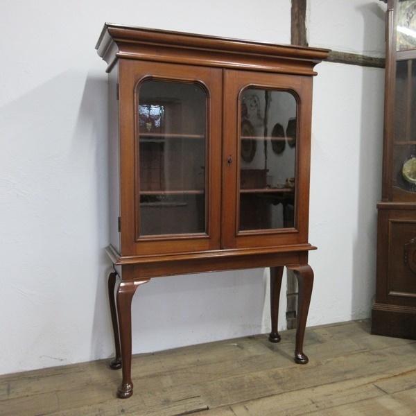 イギリス アンティーク 家具 ブックケース 本棚 飾り棚 収納 猫脚 木製 マホガニー 英国 BOOKCASE 6591b_画像2