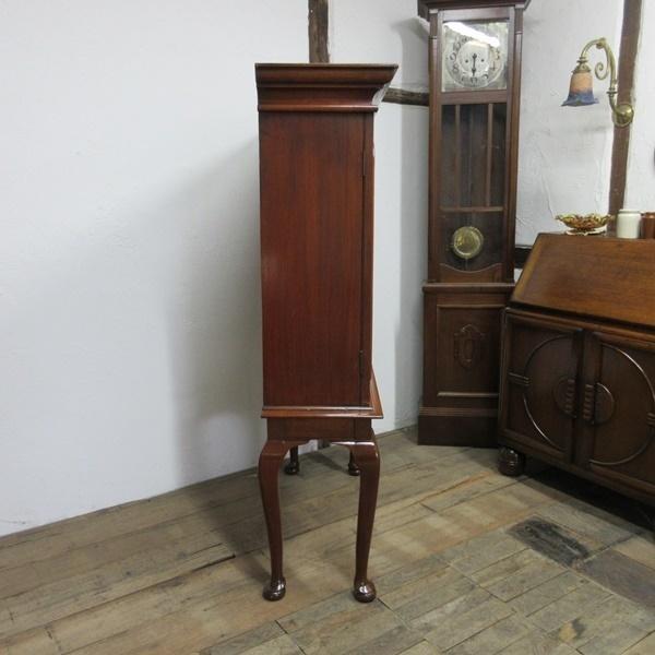 イギリス アンティーク 家具 ブックケース 本棚 飾り棚 収納 猫脚 木製 マホガニー 英国 BOOKCASE 6591b_画像4