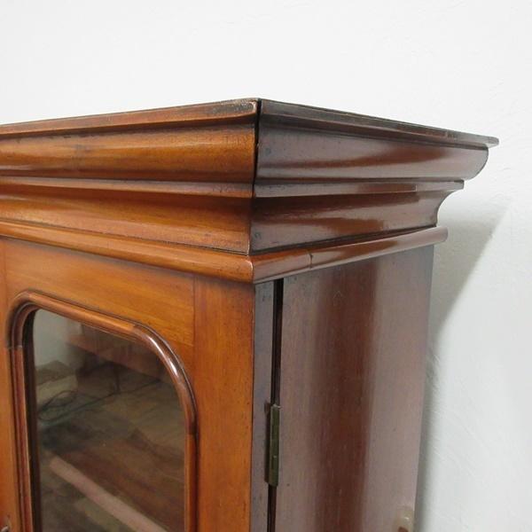 イギリス アンティーク 家具 ブックケース 本棚 飾り棚 収納 猫脚 木製 マホガニー 英国 BOOKCASE 6591b_画像9