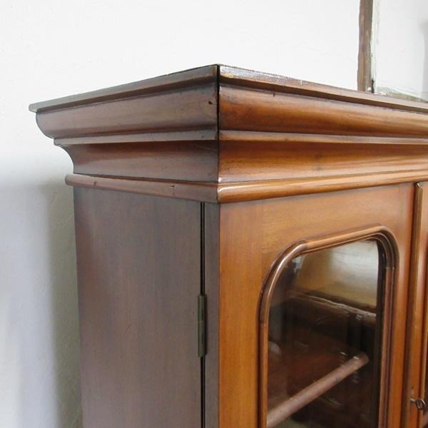 イギリス アンティーク 家具 ブックケース 本棚 飾り棚 収納 猫脚 木製 マホガニー 英国 BOOKCASE 6591b_画像6