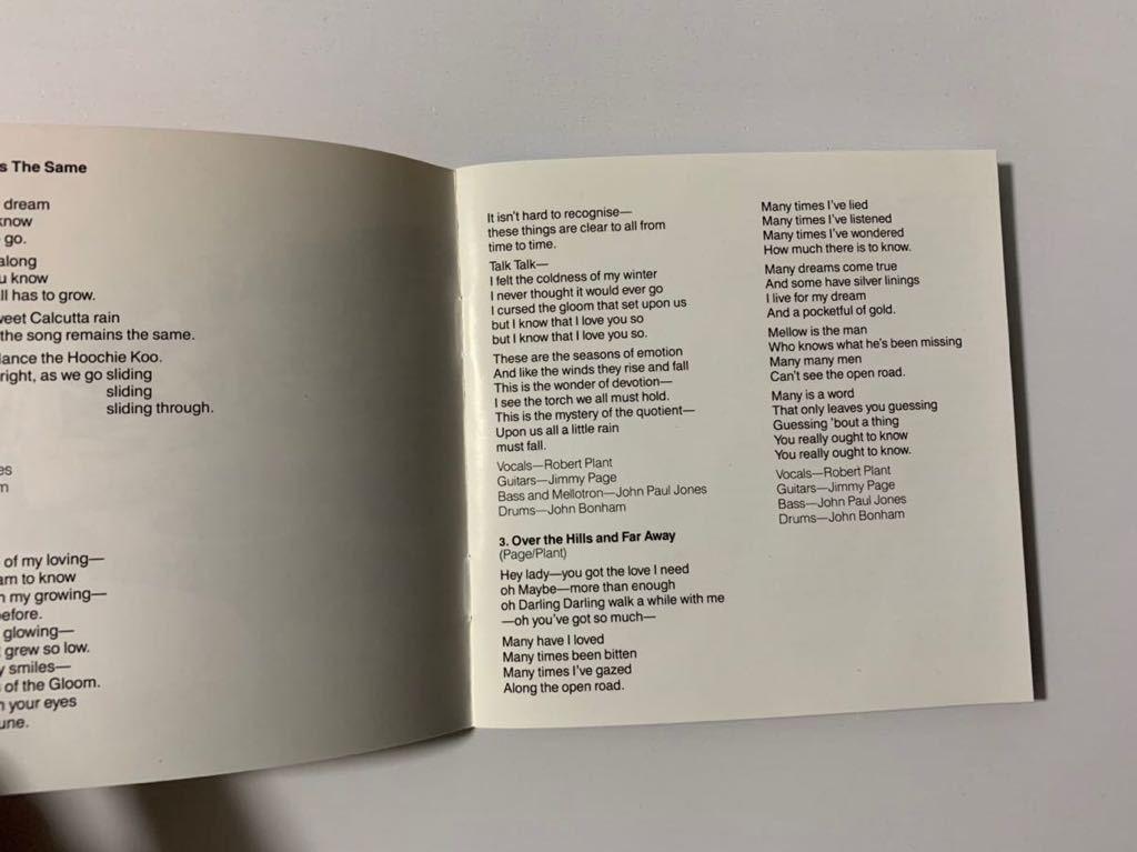 美品 LED ZEPPELIN HOUSES OF HOLY レッドツェッペリン ハウセス オブ ホリ- 聖なる館 輸入盤 送料無料